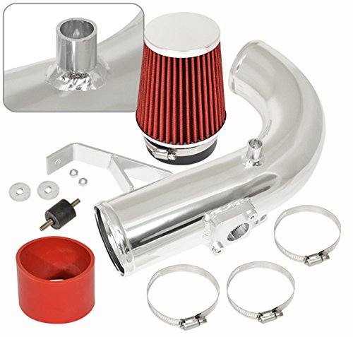 Jdm Racing Polish Aluminum Performance Cold Air Intake Induction System Red Filter For Scion Tc (Cold Air Intake System Scion Tc compare prices)