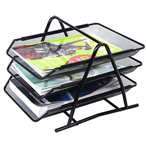 Fashion 3 Tier Mesh Desk Tray Organizer Storage Rack Holder File Folder Document Paper (Hotel Desk Folder compare prices)