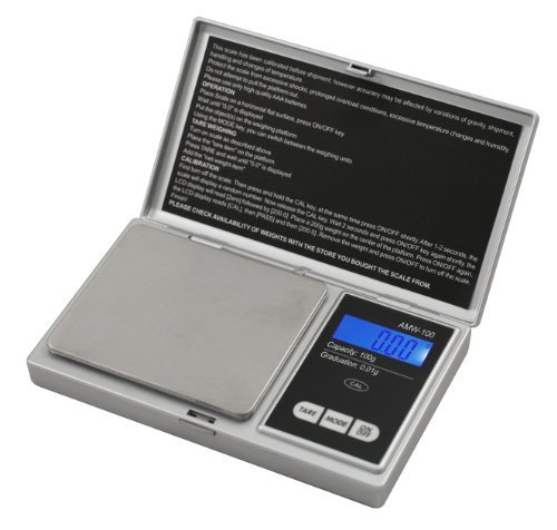 American-Weigh-Scales-Signature-Series-Silver-AWS-100-SIL-Digital-Pocket-Scale-100-by-001-G