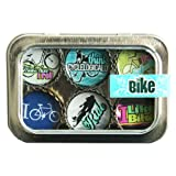 Bike Bottle Cap 6 pc Magnet Set w/ Case