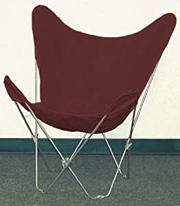 Amazon Solid Burgundy Canvas Butterfly Chair Cover
