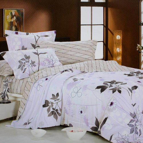 Blancho Bedding - [Faint Aroma] 100% Cotton 4PC Comforter Cover/Duvet Cover Combo (Full Size)