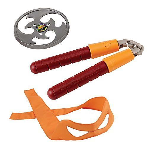 Teenage Mutant Ninja Turtles Power Sound FX Combat Gear - Michelangelo's Nunchucks with Mask & Throwing Stars (Ninja Turtles Gear compare prices)