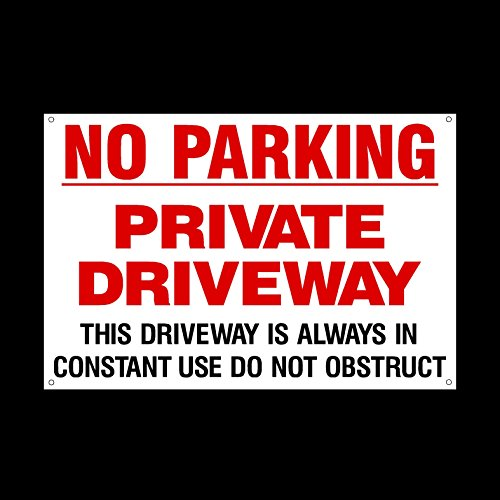 no-parking-private-driveway-plastic-sign-with-4-pre-drilled-holes-private-property-parking-clamping-