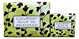 Bundle of 2 Greenwich Bay Trading Co. Soaps - 10.5oz Bar and Matching 1.9oz Mini Soap (Cucumber Olive Oil)