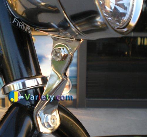 JBikes Dynamo Classic Retro Chrome Bicycle Headlight with Visor for Lowrider Beach Cruiser Comfort BMX Hybrid Bike 3