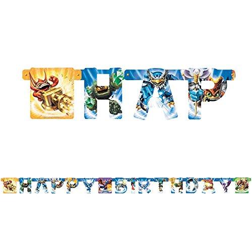 Skylanders Happy Birthday 7.5' Banner (Each) - Party Supplies