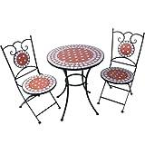 Jago Mosaik-Bistro Set–Garten-Tisch mit Stühlen