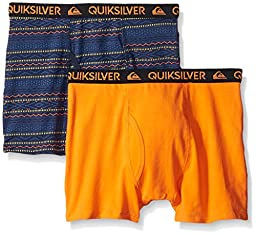 Quiksilver Little Boys\' Ethnic Print Boxer Brief, Multi Color, Small/6/7 (Pack of 2)