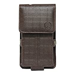 Jo Jo A6 D4 Series Leather Pouch Holster Case For HTC One E9s Dual SIM Brown