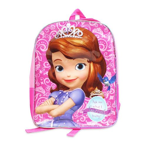 Disney Little Girls Princess Sofia 15.5-inch Kids Backpack