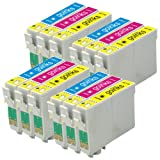 4 Compatible C/M/Y Colour Sets of XL Printer Ink Cartridges to replace T1812, T1813, T1814 / 18XL Series (12 Inks) - Cyan / Magenta / Yellow for use in Epson Expression Home XP-30, XP-102, XP-202, XP-205, XP-302, XP-305, XP-402, XP-405, XP-405WH (Capacit