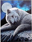 Guardián del Norte - Fantástico Lobo diseñan por el artista Lisa Parker - cuadro de la lona en el fotograma placa de la pared / pared del arte (Guardian of the North)