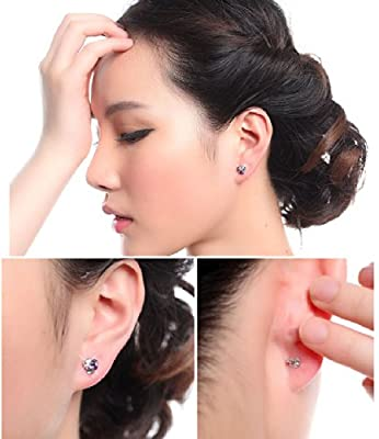 Celebrity Jewellery Silver Stud Earrings with Cute Small Swarovski Elements Crystal Women for Women Gift