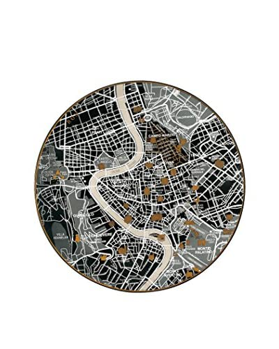 Seletti Porcelain Map Plate, Rome, 10.4