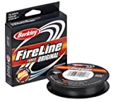 Berkley Fireline Fused Original Superline 300 Yd spool(20/8-Pound,Smoke)