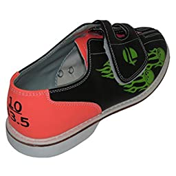 Linds Womens Flame Glow Rental Bowling Shoes- Velcro (7 M US, Flame)