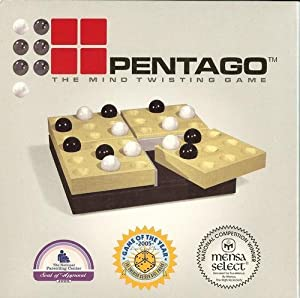 Pentago Game from Mindtwister USA, Black-Natural/Solid Birch