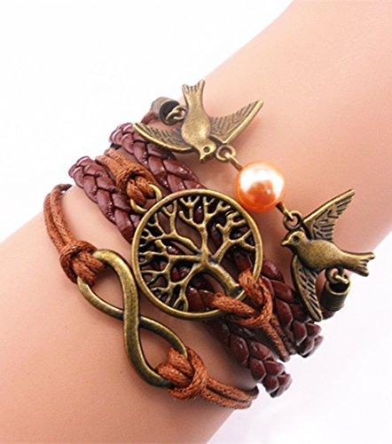 handmade fashion infinity birds tree for life charm