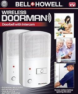Bell + Howell Wireless Doorman Doorbell with Talking ...