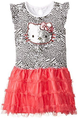 Hello Kitty Big Girls' Animal Print Tutu Dress