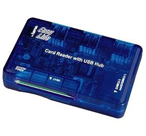 Hama EasyLine Card Reader & Integrated USB2.0 Hub
