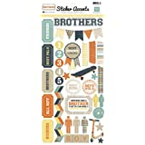 Echo Park Brothers Scrapbook Stickers
