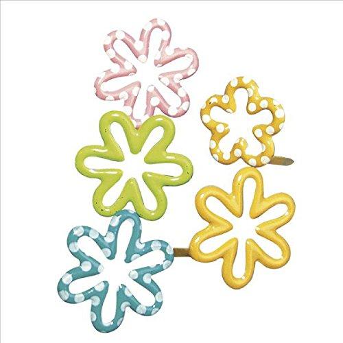 Rayher - 7858149 - tachuelas de la flor, 20-25 mm de diámetro, blíster 24 pcs, varios coloures