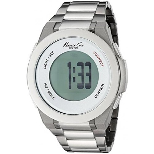 KENNETH COLE Orologio SMARTWATCH modello CONNECT digitale BLUETOOTH, UNISEX, in pelle, 3 ATM 10023868 44 mm