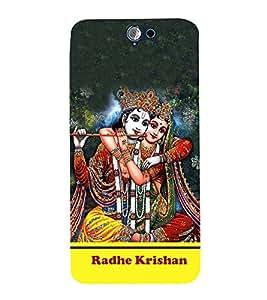 Radha Krishna 3D Hard Polycarbonate Designer Back Case Cover for HTC One A9