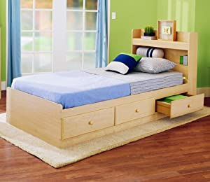 Simple New Visions by Lane Twin Size Storage Bed