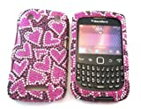 Blackberry CURVE 9350 9370 9360 Diamante Bling Case/Diamond Full case Front and Back
