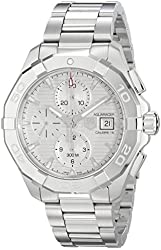 TAG Heuer Men's CAY2111.BA0925 Aquaracer Analog Display Swiss Automatic Silver Watch