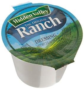 Hidden Valley Dressing Original Ranch, 2-Ounce Cups (Pack of 96)
