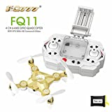 RealAcc FQ777 FQ11 With Foldable Arm 3D Mini 2.4G 4CH 6 Axis Headless Mode RC Quadcopter RTF (Golden)