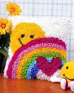 Caron WonderArt Latch Hook Rug Kit - Sunshine Rainbow from Caron