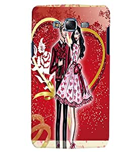 Fuson Love Couple Back Case Cover for SAMSUNG GALAXY J5 - D3751