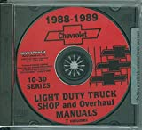 img - for 1988 1989 CHEVROLET 10-30 PICKUP & LIGHT TRUCK REPAIR SHOP & SERVICE MANUAL CD Pick-up, Blazer, Suburban, Vans book / textbook / text book