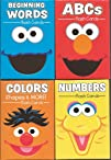 Sesame Street Flash Cards Set of 4 (ABCs, Beginning Words, Colors, Shapes & Opposites, Numbers…
