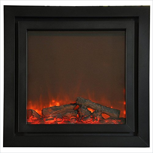 Yosemite Home Decor Df-Efp1240 Ares Double Surround Electric Fireplace Insert With Faux Wood Logs