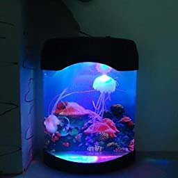 Saver Aquarium Simulation Jellyfish Background Lamp Night Light