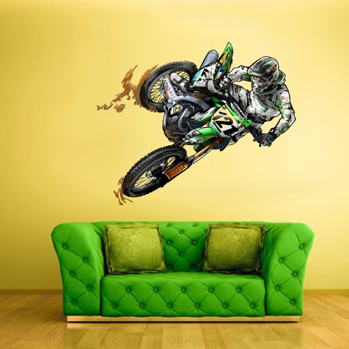 Motorcycle themed bedding sets for Dirt bike wall mural