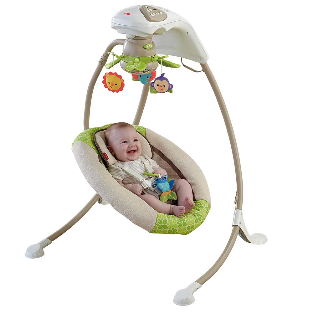 Amazon.com : Fisher-Price Deluxe Cradle 'n Swing, Rainforest Friends : Stationary Baby Swings : Baby