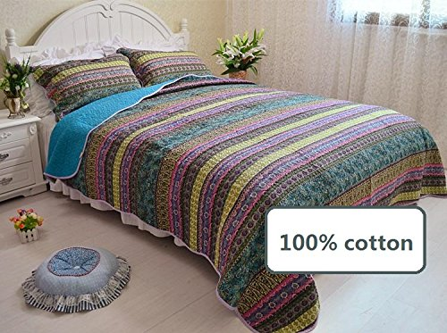 Brandream-Queen-Size-Boho-Bedding-Bohimian-Bed-Quilt-Set