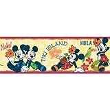 Imperial Disney Home DF059281B Mini Tropical Hula Border, Yellow, 6.83-Inch Wide