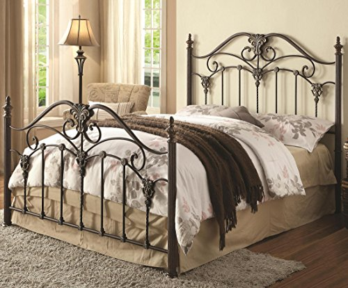 Coaster Home Furnishings Queen Bed, Black Brush Gold front-520136