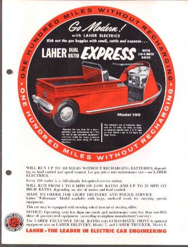 Laher Dual Ratio Express Electric Car Sales Folder Ca 1950S