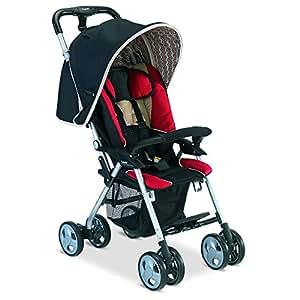 Combi Cosmo E Stroller, Red/Black/Beige