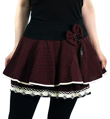 innocent-mini-rock-aya-bow-mini-skirt-black-red-polka-schwarz-xl
