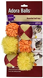 Worldwise Petlinks Adora Cat Balls (6-Pack), Assorted